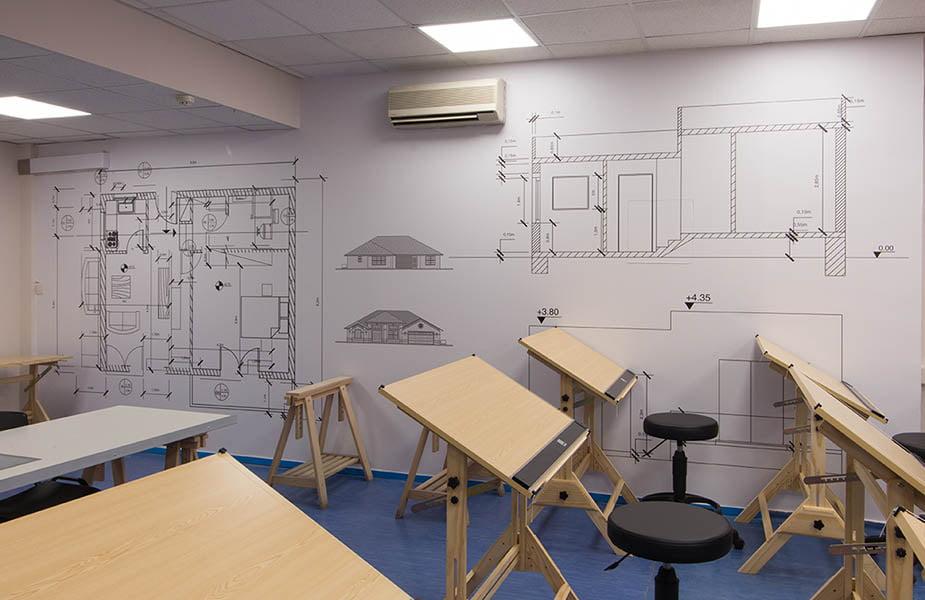 ΙΕΚ ΑΚΜΗ: Εργαστήριο Σχολής Δομικών Έργων